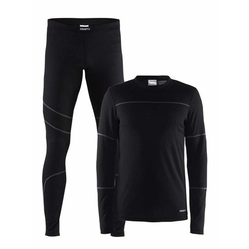 Craft Baselayer Set heren zwart