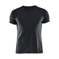 Essential Shortsleeve Shirt  V-Neck heren zwart