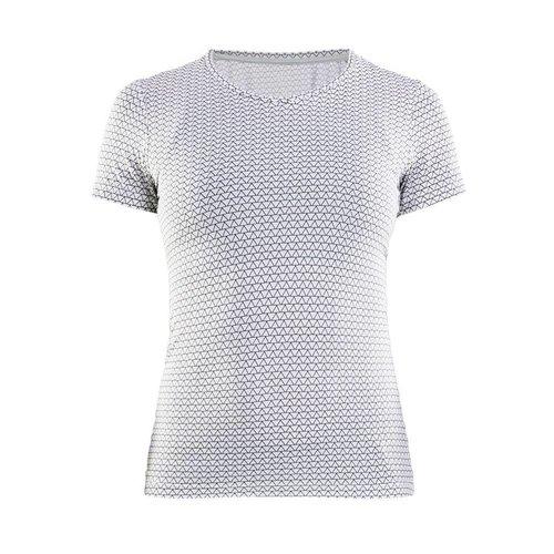 Craft Essential Shortsleeve Shirt  V-Neck dames print