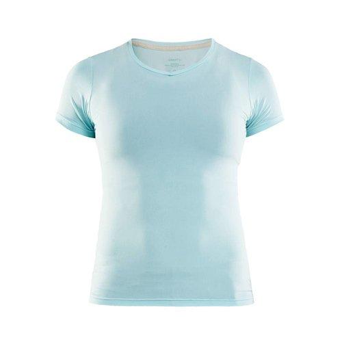 Craft Essential Shortsleeve Shirt  V-Neck dames blauw
