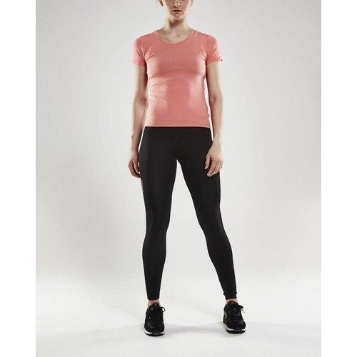 Craft Essential Shortsleeve Shirt  V-Neck dames roze