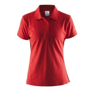 Craft Polo Pique dames rood