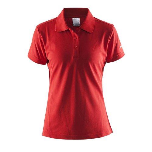 Craft Craft Polo Pique dames rood