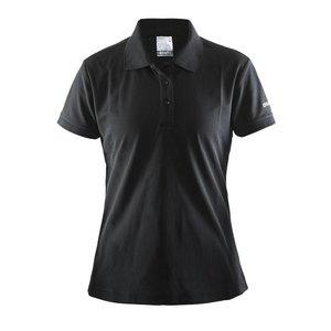 Craft Polo Pique dames zwart
