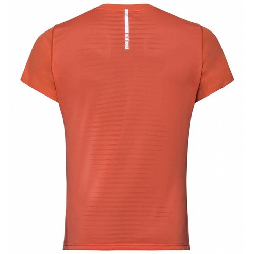 Odlo Ceramicool Korte Mouw Shirt heren oranje