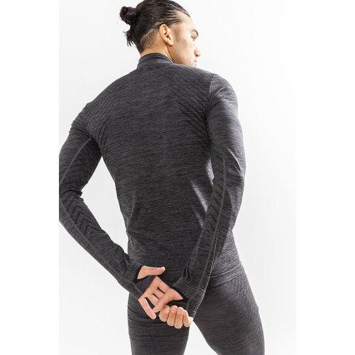 Craft Fuseknit Comfort Zip heren grijs-zwart melange