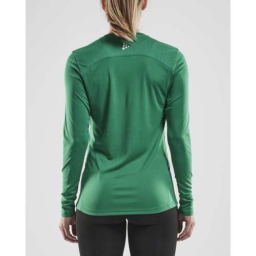 Craft Rush LS Tee, dames, Team Green