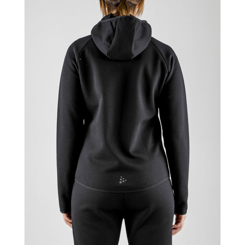 Craft Emotion Full Zip Hood, dames, zwart