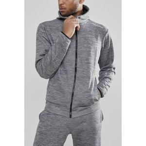 Craft Leisure Hood Full Zip vest heren, drk Grey
