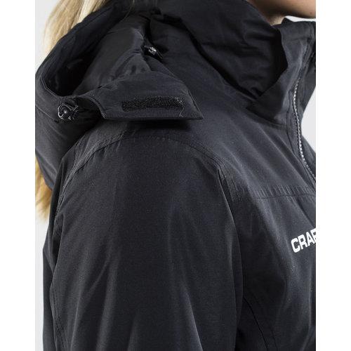 Long Parka Jacket dames,  black