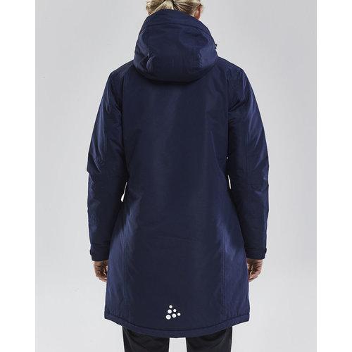 Long Parka Jacket dames,  navy