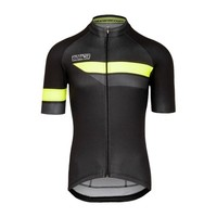 Bioracer Team Short Sleeve Jersey Bodyfit 2.0, heren, black/Fluo