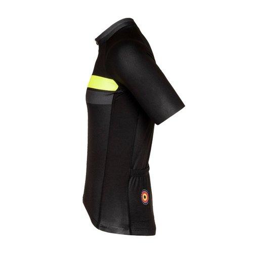 Bioracer Bioracer Team Short Sleeve Jersey Bodyfit 2.0, heren, black/Fluo