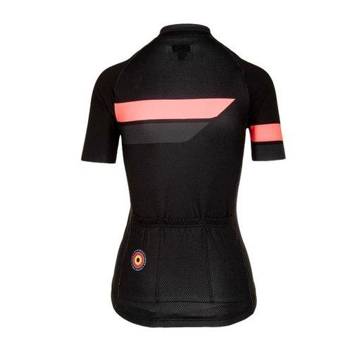 Bioracer Bioracer Team Jersey Bodyfit 2.0, dames, black/pink