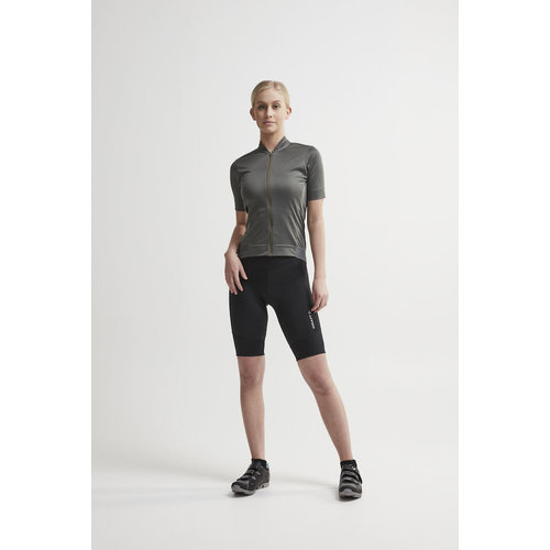 Craft Craft Essence Bike Short dames  - zwart met zilverkleurig logo