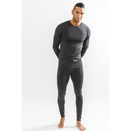 Craft Fuseknit Comfort Lange Mouw Shirt heren, black melange