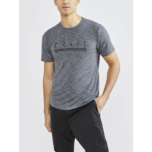 Craft Craft Core Sence SS Tee, heren, Grey Melange