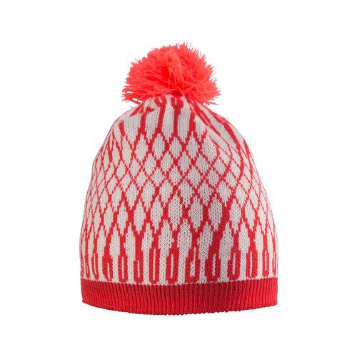 Craft Craft Snowflake Hat, Poppy/White