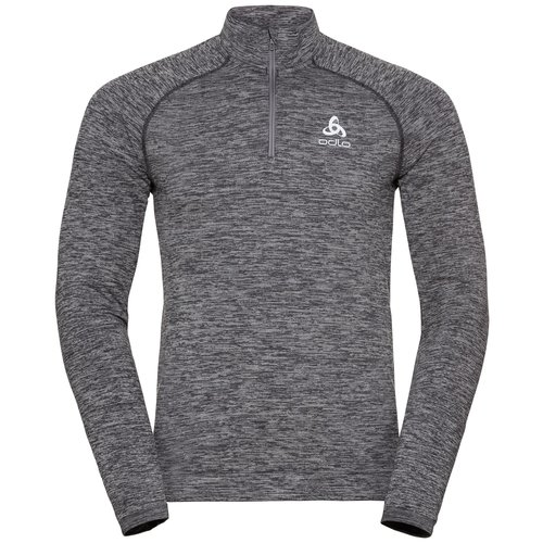 Odlo Odlo warm hardloopshirt, Men's Midlayer, Millennium Yakwarm, grijs