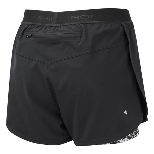 Ronhill Ronhill  2 in 1 hardloopshort, dames Life Twin Short, black