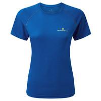 Ronhill Core T-shirt voor dames, Core s/s Tee,  Azurite Marl