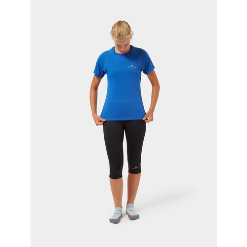 Ronhill Ronhill Core T-shirt voor dames, Core s/s Tee,  Azurite Mar