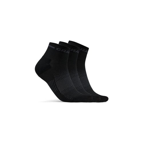 Craft Korte zomersokken Craft Dry Mid Sock 3-pak, zwart, unisex