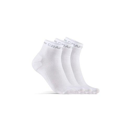 Craft Zomersokken Craft Dry Mid Sock 3-pak, wit, unisex