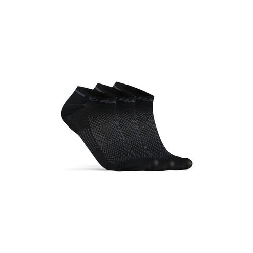 Craft Zomersokken, Craft Dry Shaftless Sock 3-pack, zwart