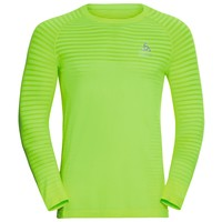Men's Essential Seamless Running Shirt, geel