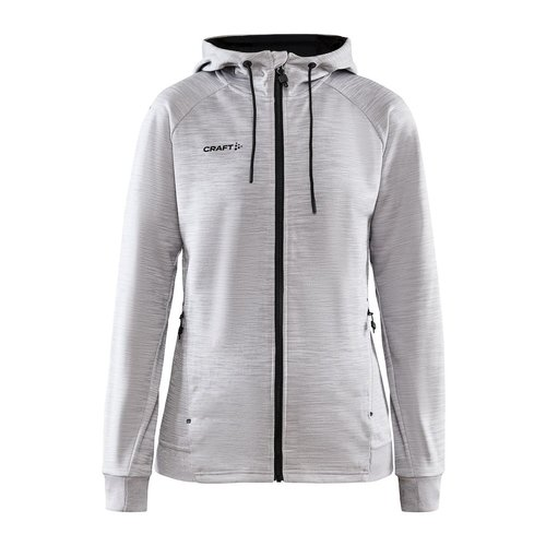 Craft Craft ADV Unify Full Zip Hood, dames, Grey Melange