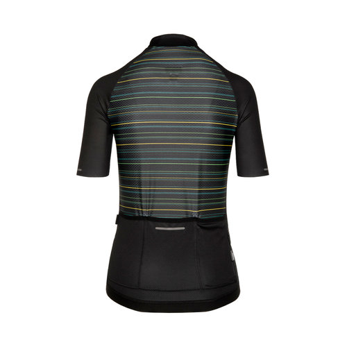 Bioracer Sprinter Kingpin Coldblack Jersey, dames, zwart/geel