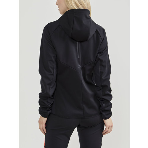 Craft Glide Hood Jacket, dames, zwart