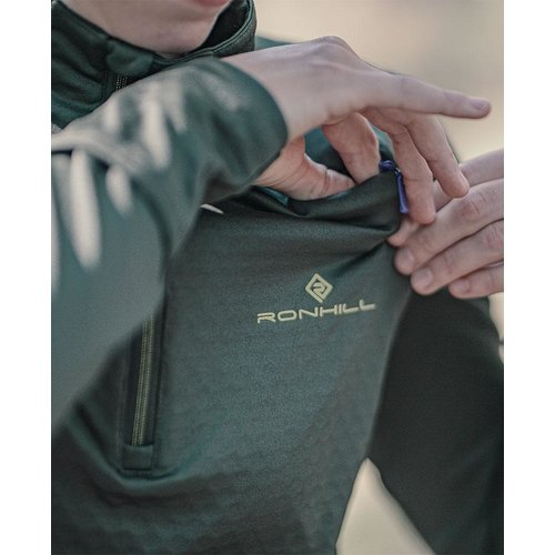Ronhill Hardloopshirt Tech Prism half zip, dames, Khaki