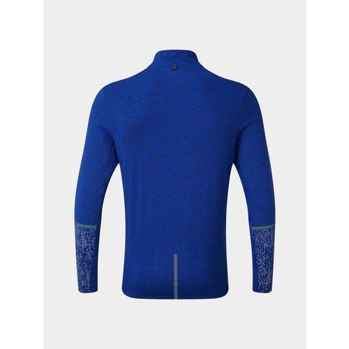 Ronhill Life Night Runner shirt half zip, heren, blauw