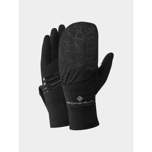 Ronhill Wind-Block Flip Handschoenen, unisex, zwart