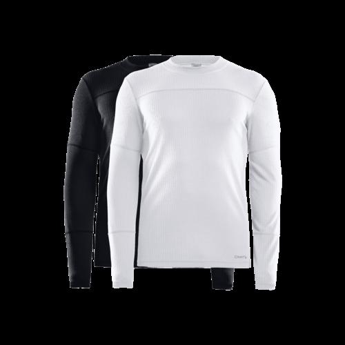 Craft Core 2-pack baselayer tops, heren, zwart-wit