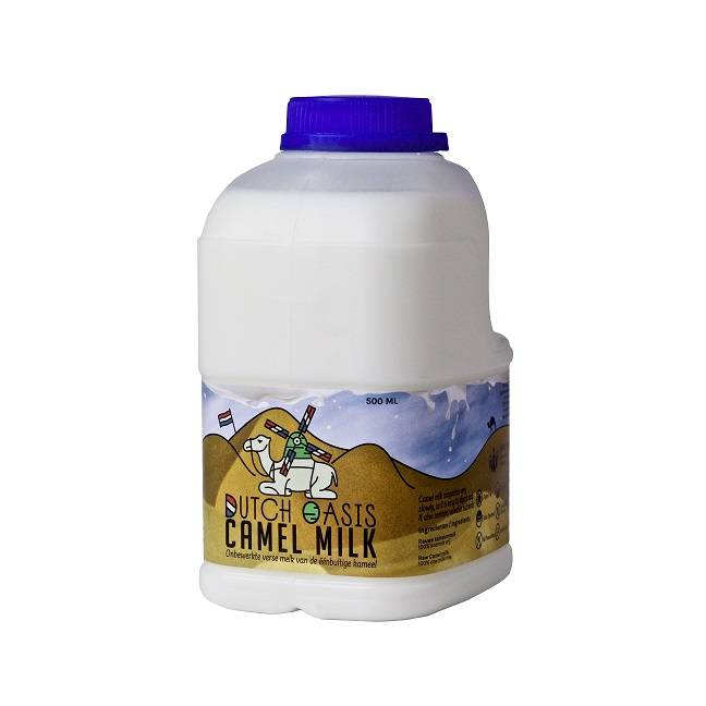 Dutch Oasis 42 bottles (á 500ml) frozen and raw camel milk
