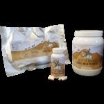 Kamelmilchpulver und Kapseln