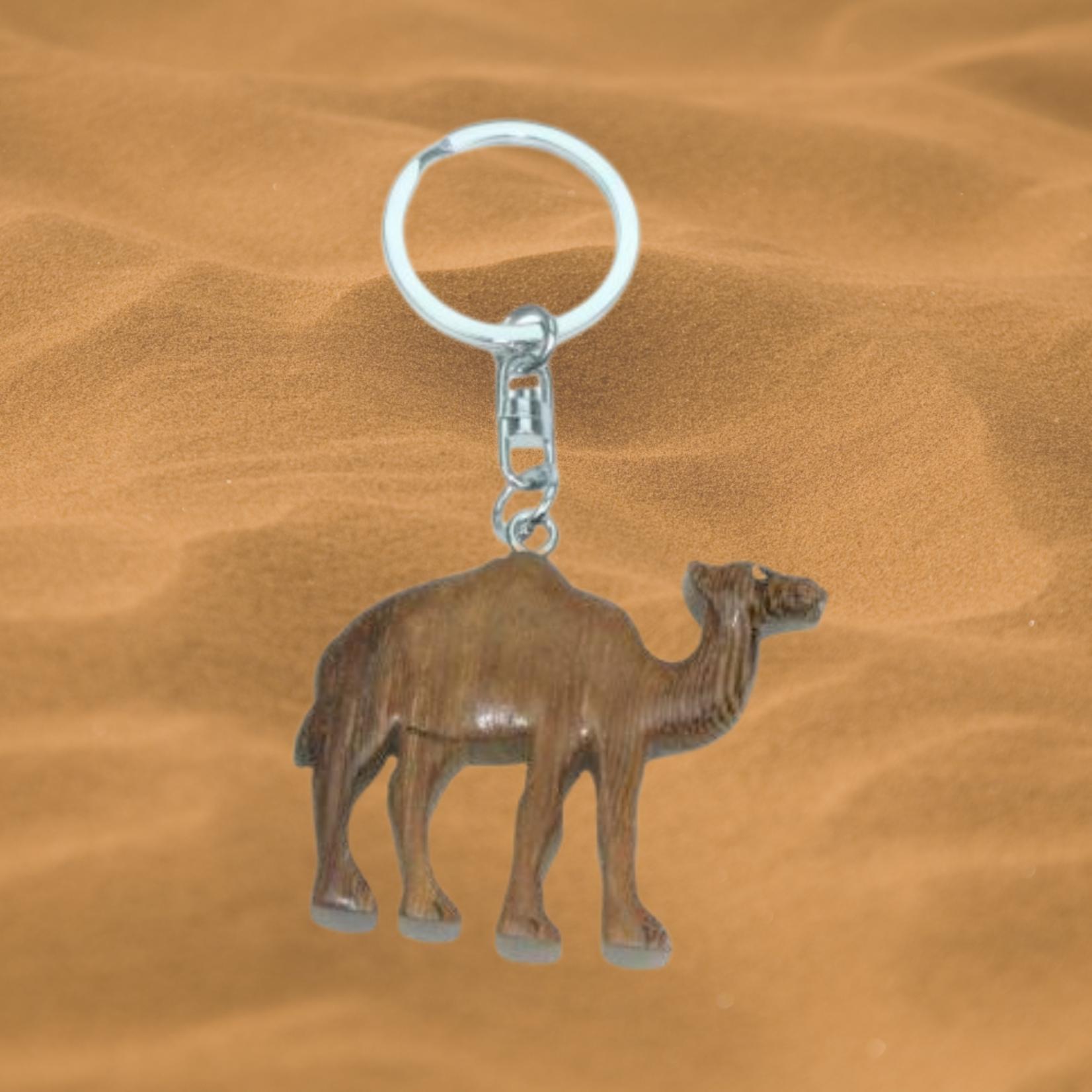 Schlüsselanhänger Kamel (Holz)