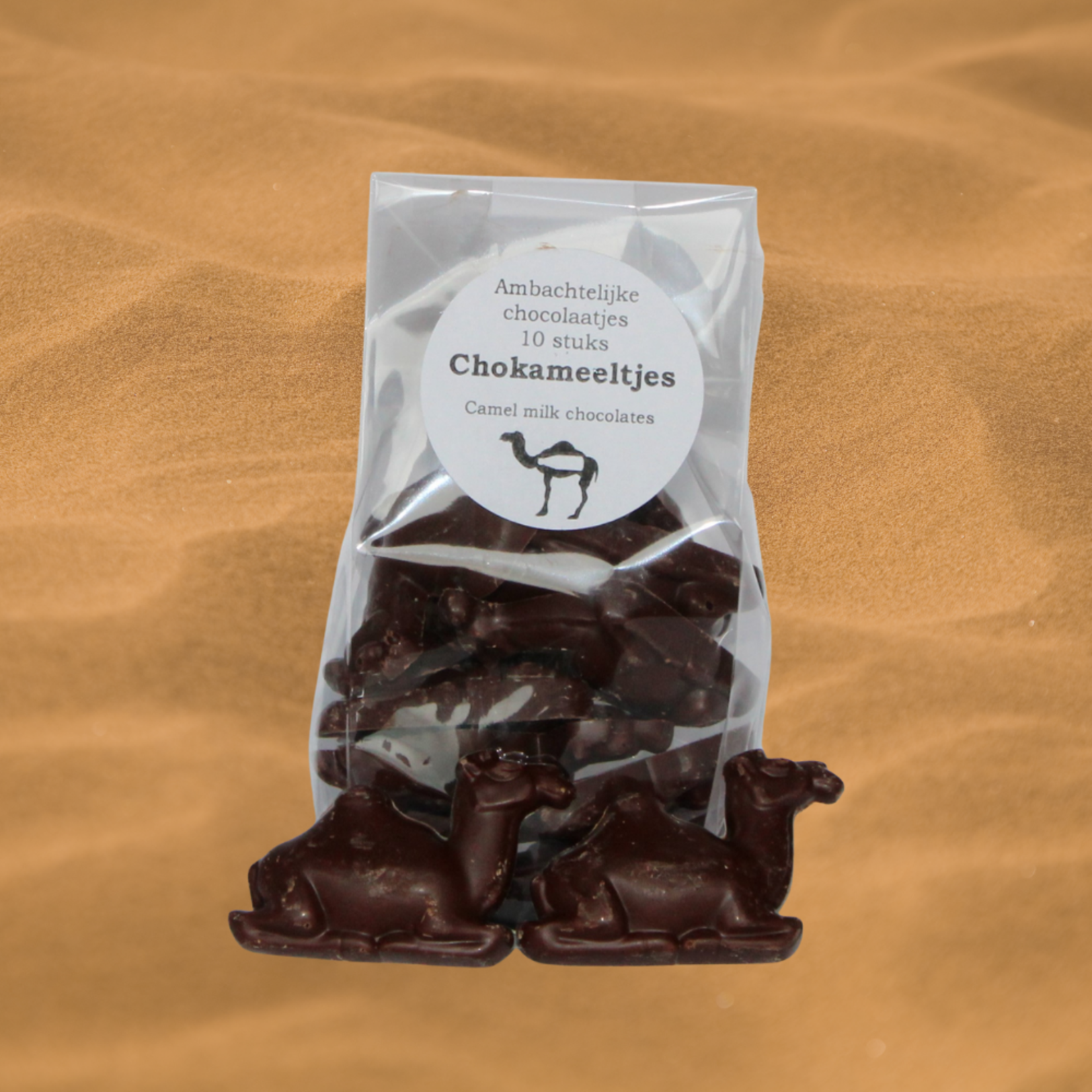 Dutch Oasis ChoCamels - Chocolates made with camel milk, in the shape of a camel