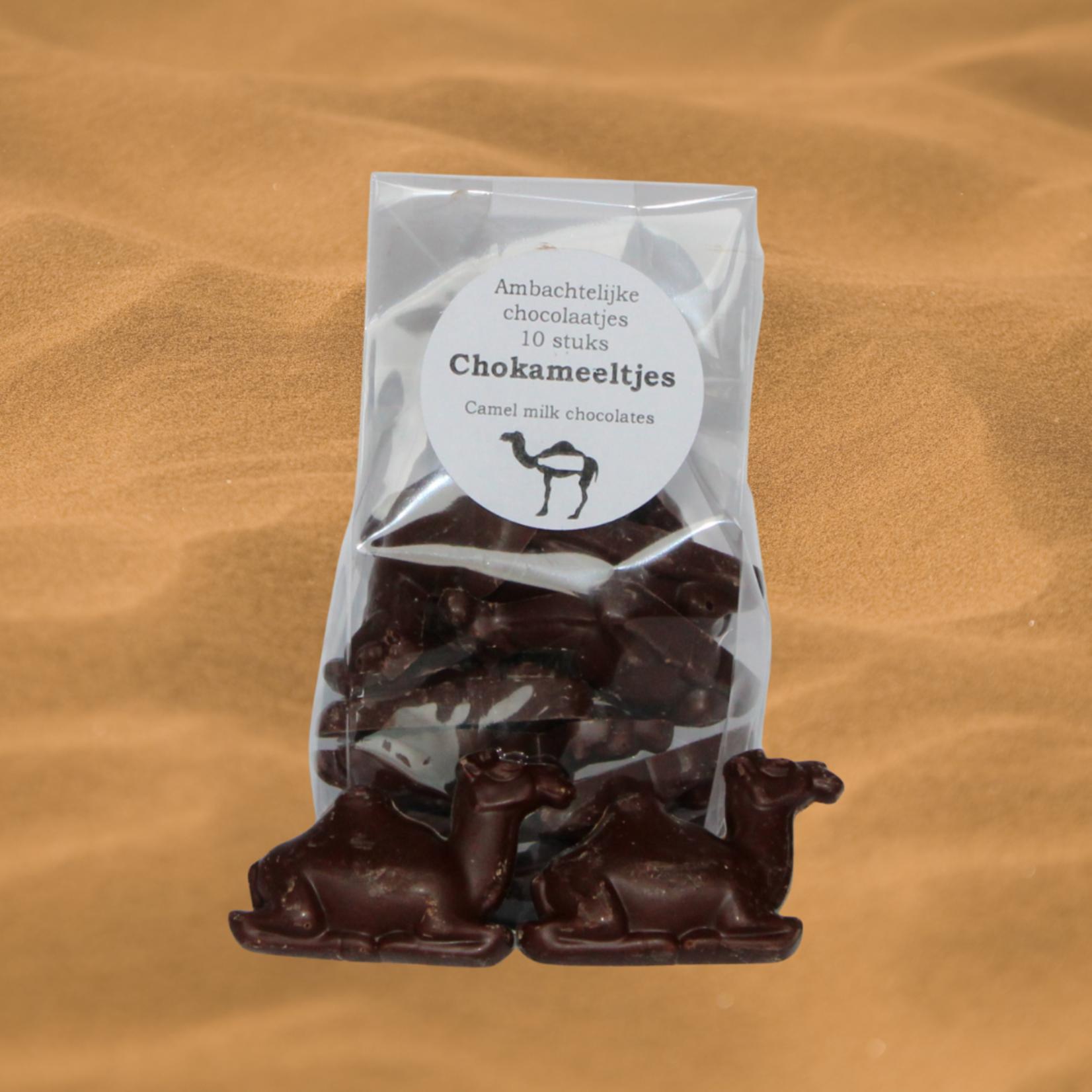 Dutch Oasis ChoKameeltjes - Chocolaatjes gemaakt met kamelenmelk, in de vorm van een kameel