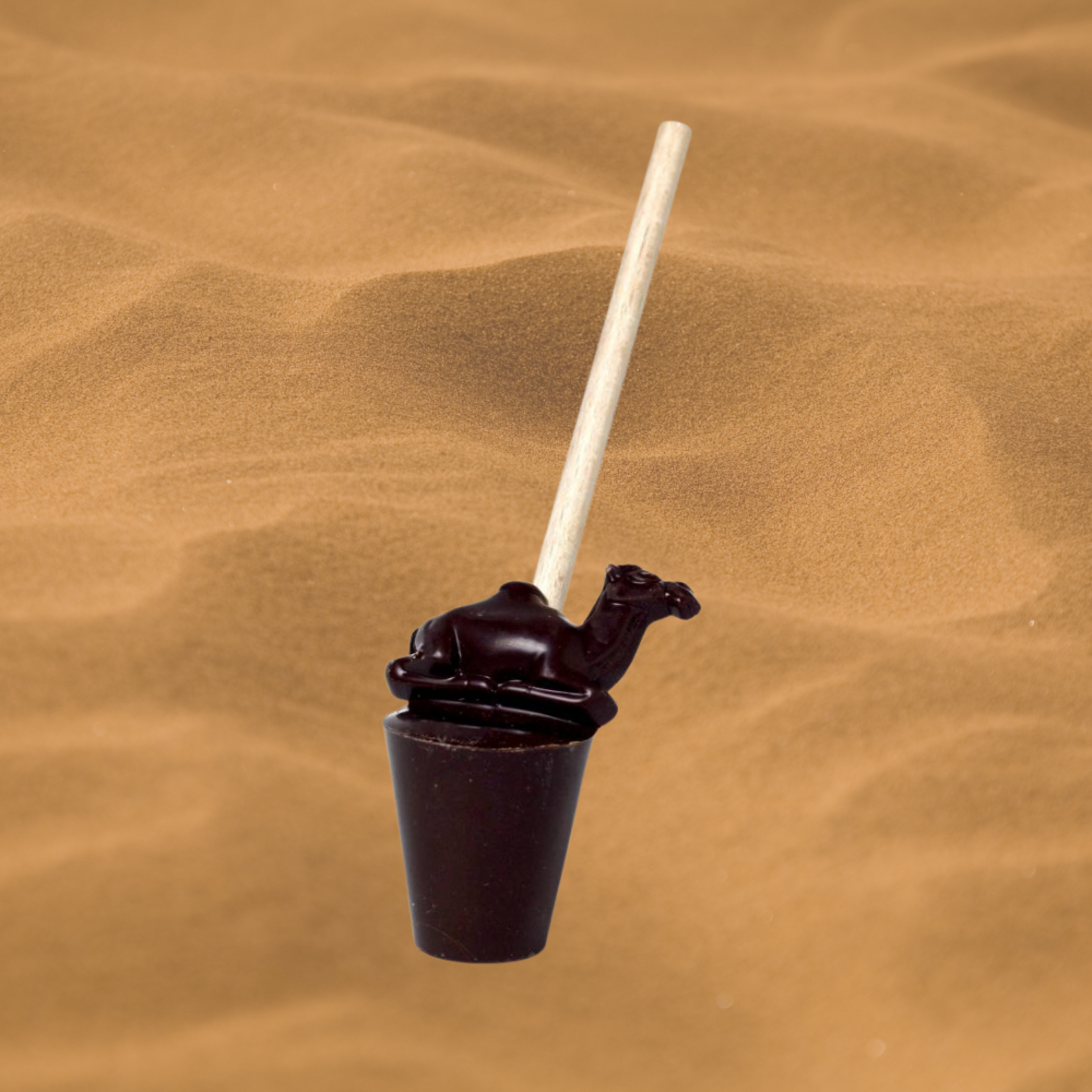 ChoCamel - Chocolate Lollipop made with Camel milk, for the best hot chocolate!
