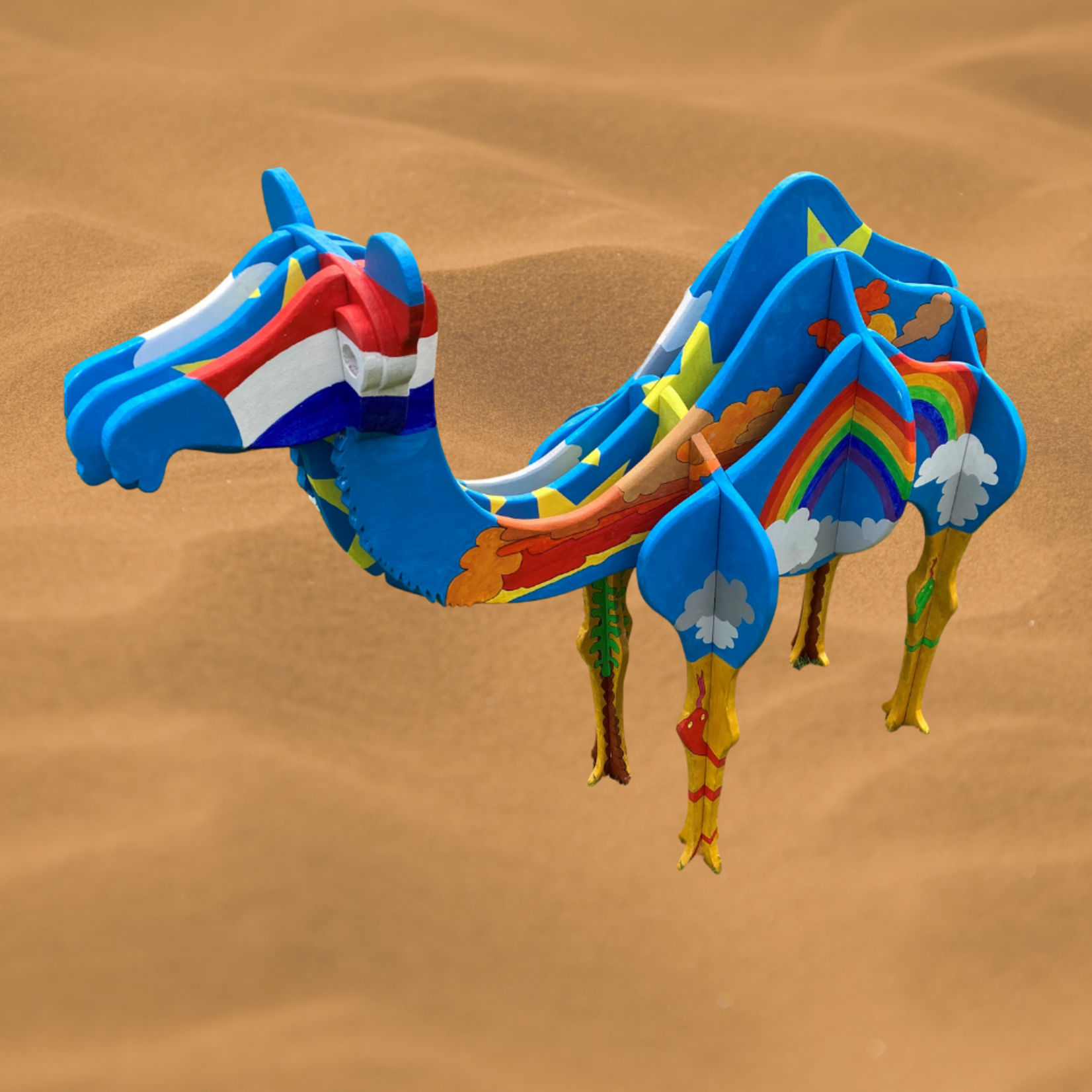 Wooden camel - construction drawing to make a camel yourself