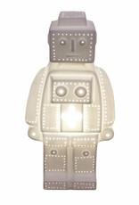Robot lamp van wit keramiek