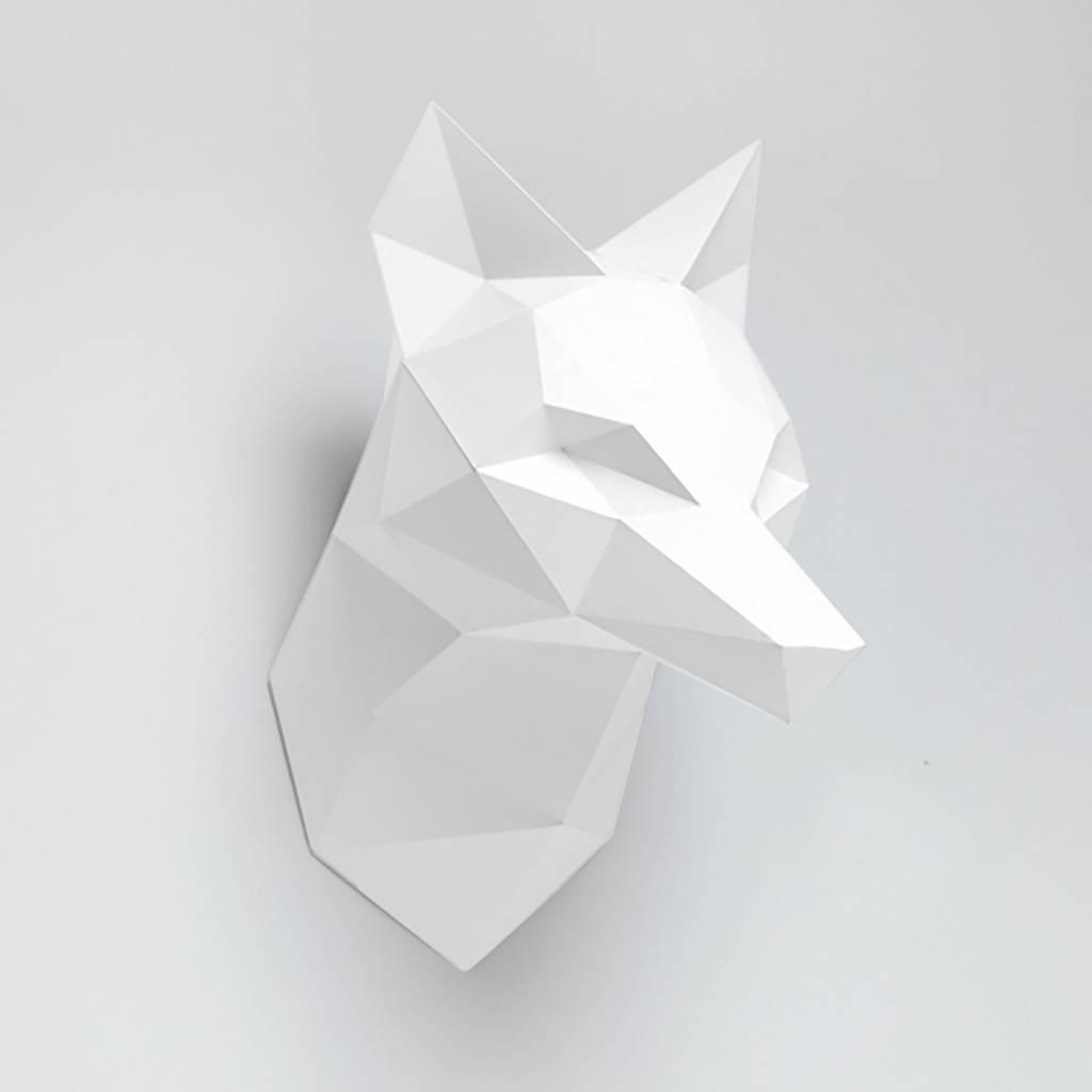 Vos dierenkop van papier