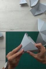 Paper fox trophy head