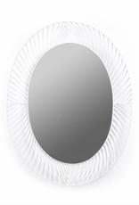 """Wit metaal design spiegel """"Colonel"""""""