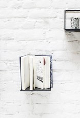 Minimal design metal wall shelf in matte black