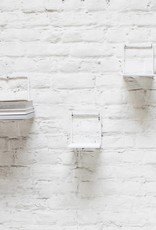 Metal wall shelf / White / L